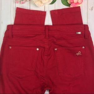 DL1961 Emma Legging Skinny Jeans Cayman Red 26